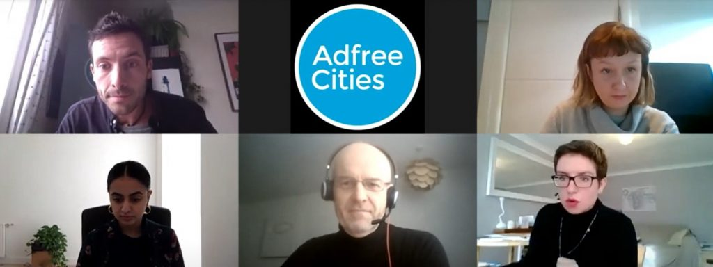 Adfree Cities conference 2020 speakers first session